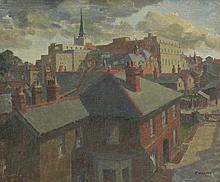 *Clifford Charman (1910-1992) 'CHELMSFORD ROOFTOPS' Signed and dated '53 l.r., inscribed w