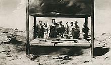 *Sam Sturis (Latvian, b.1971) 'PENITENTIARY I', 2002 Signed l.r., charcoal on gessoed boar
