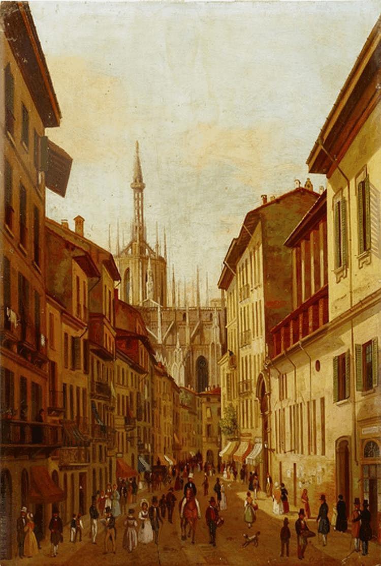 Angelo Inganni (Italian, 1807-1880) IL CORSO,