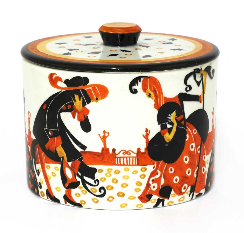 A Lenci pot and cover,