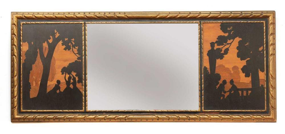 A Rowley Gallery inlaid wall mirror,