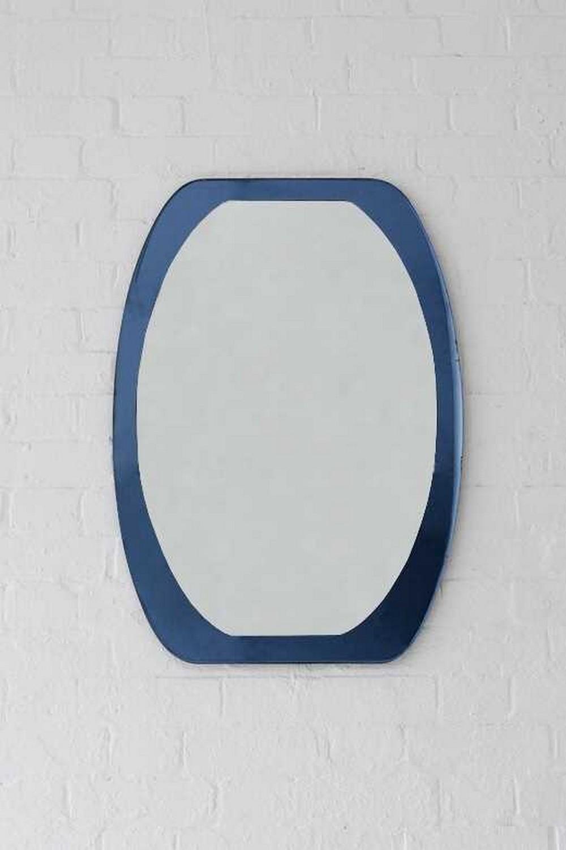 An Italian glass wall mirror,