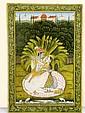 Late Kishangarh (c.1850), KRISHNA AND RADHA IN A