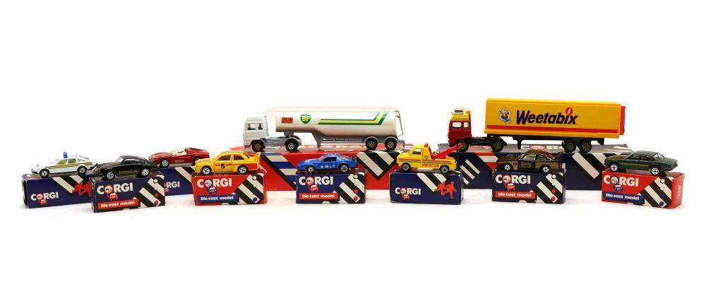 A quantity of boxed Corgi toys,