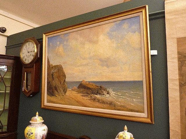 Georg Michael Meinzolt (1863-1948), A Rocky Beach,