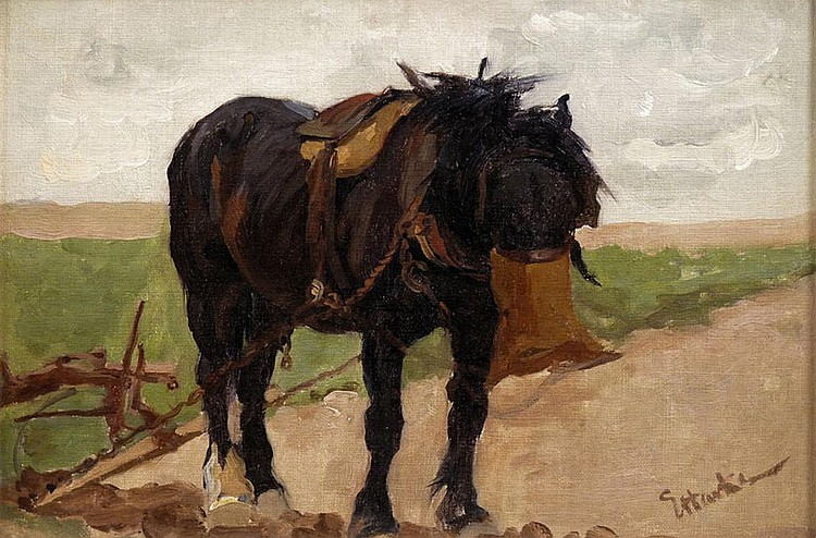 Evelyn Harke (fl. 1899-1930) A PLOUGH HORSE