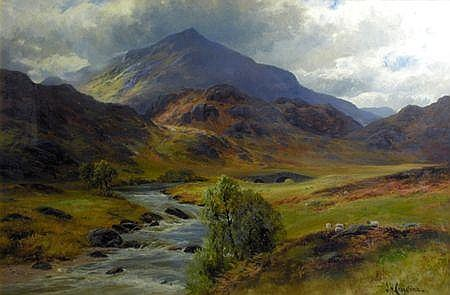 James Henry Crossland (1852-1939) A HIGHLAND GLEN