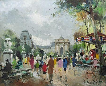 Francois Claver (French, b.1918) LES TUILERIES,
