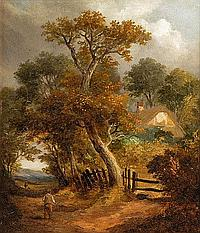 Obadiah Short (1803-1886) WOODED LANDSCAPES WITH