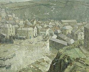 Arnold Beauvais PORT ISAAC Signed and dated 1964 56 x 68.5cm