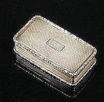 A William IV silver snuff box, by Gervase Wheeler,