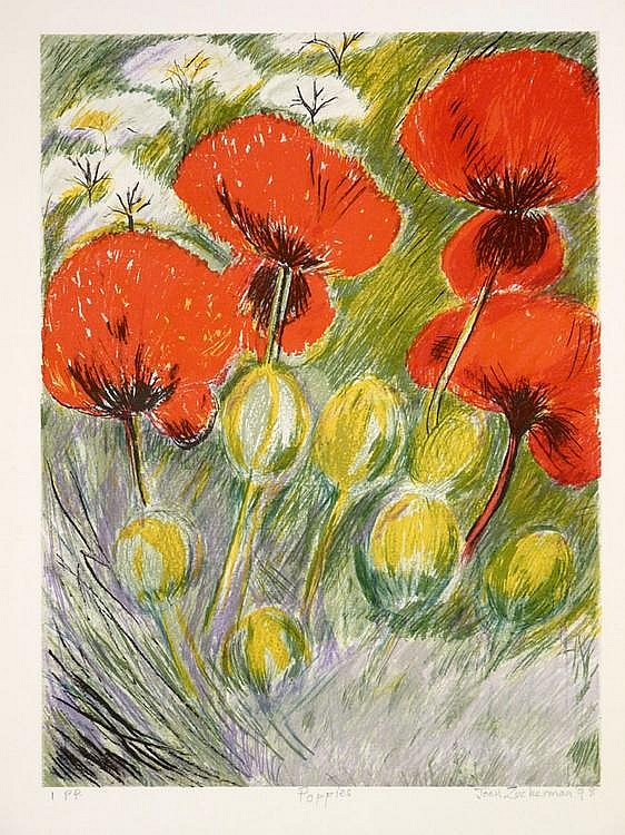 Joan Zuckerman (British, 20th Century) POPPIES