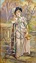 Eva Hollyer (fl.1889-1902) 'THE MORNING WALK', Eva Hollyer, Click for value