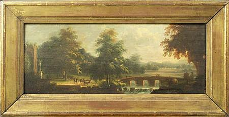 Michele Pagano (Italian, 1697-1732) A WOODED RIVER