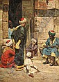 Jan Baptist Huysmans (Belgian, 1826-1906) ARAB MEN, Jan Baptist (1826) Huysmans, Click for value