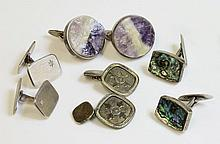 A pair of Danish sterling silver cufflinks,