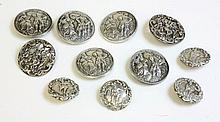 A set of five sterling silver rococo style