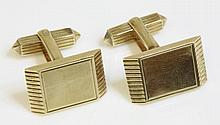 A pair of 9ct gold cufflinks, by S J Rose, c.1970,