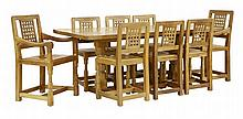 A Robert 'Mouseman' Thompson oak dining suite,