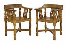 A pair of Robert 'Mouseman' Thompson oak monks'