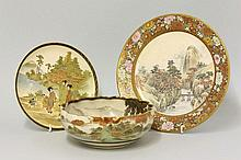 An unusual Plate, c.1900, well painted in Chinese