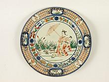 A Cornelius Pronk Arita porcelain Plate, c.1700,