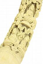 A good Burmese ivory Tusk Carving, mid 19th