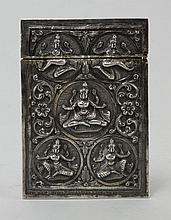 An Indian silver Card Case, late 19th century,