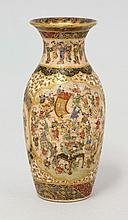 A Yabu Meizan Vase, c.1890, finely enamelled and