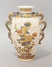 A Kyoto 'Satsuma' Vase, last quarter of the 19th