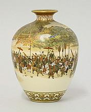 A Yabu Meizan Kyoto 'Satsuma' Vase, c.1890, the