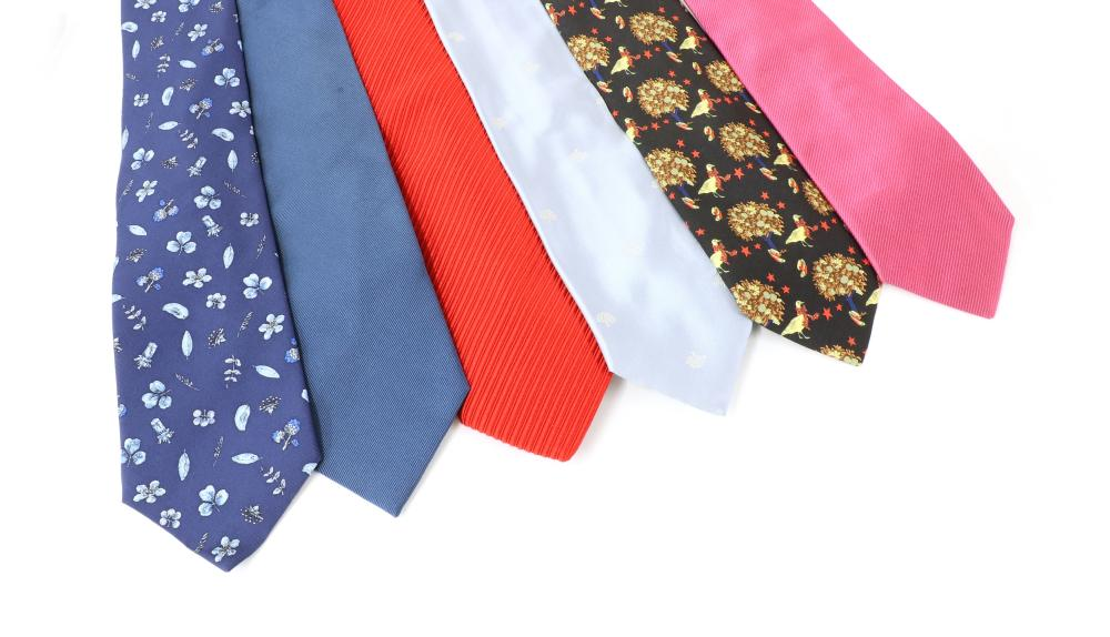 A collection of eleven ties,