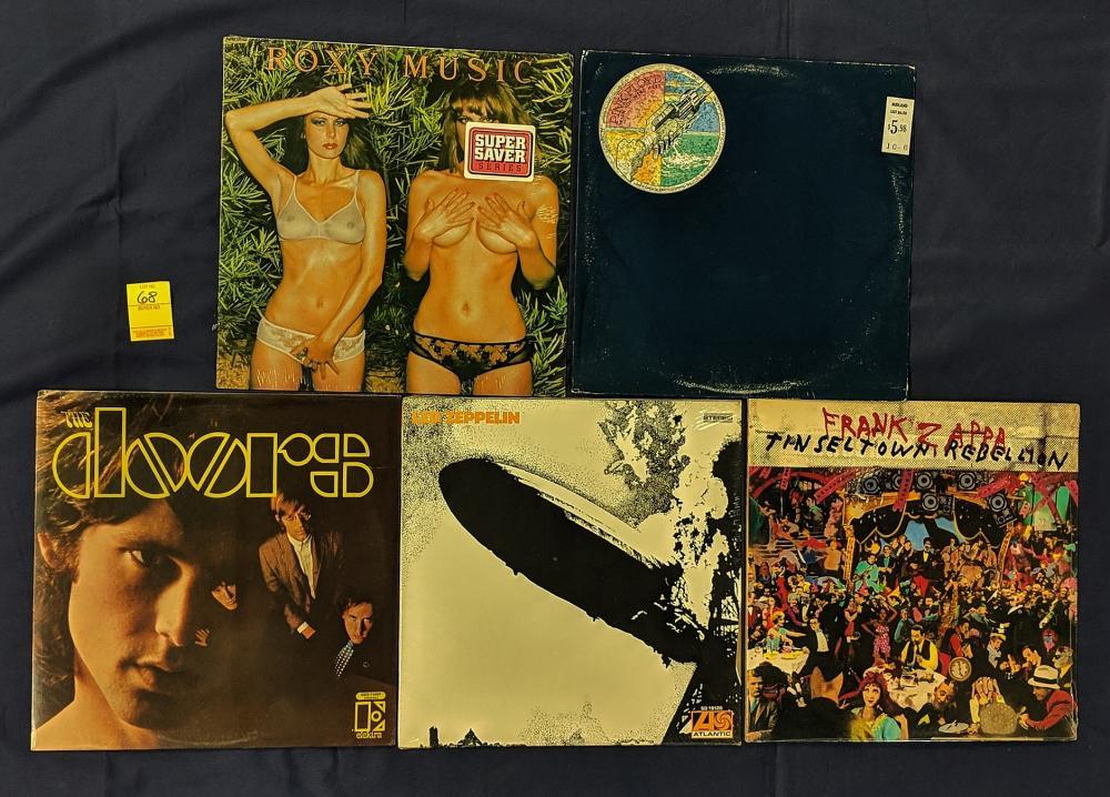 5 Sealed LP Records