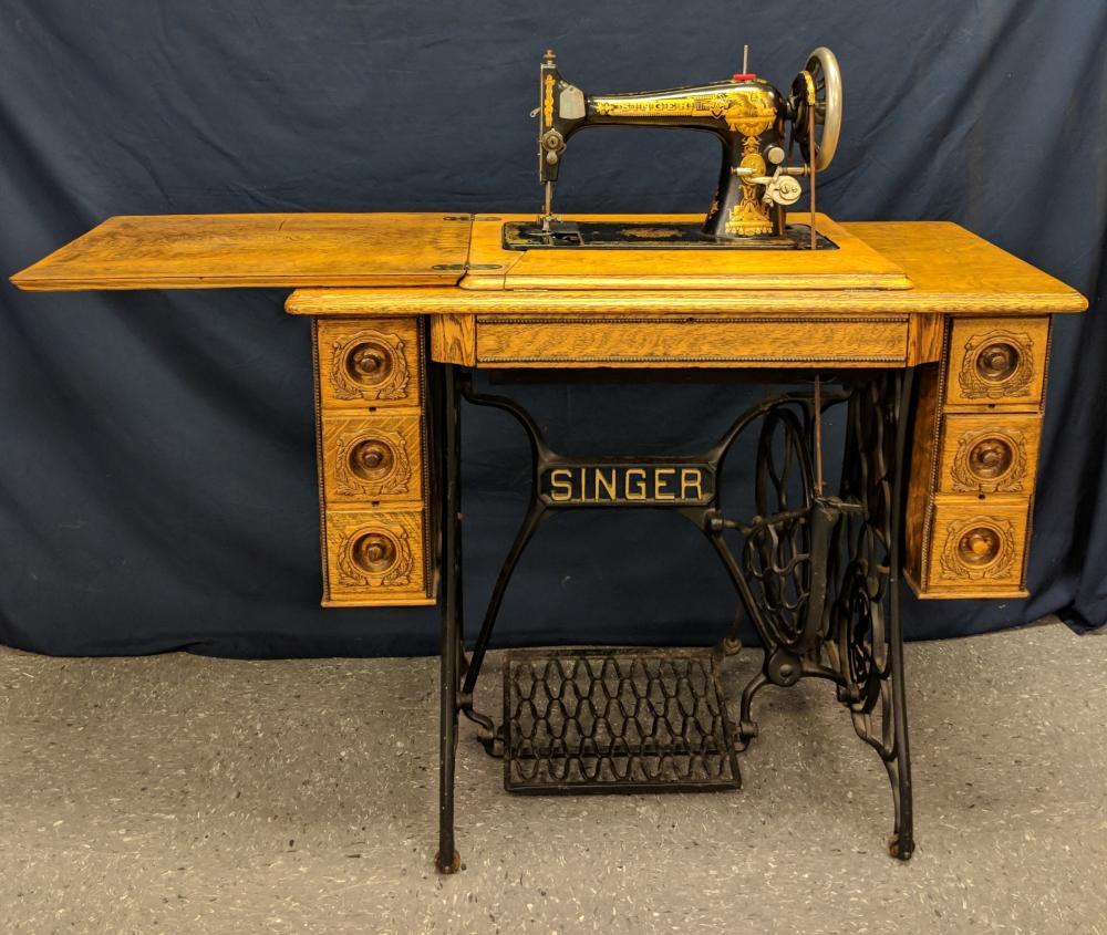 Treadle machine restoration sewing singer Obsessive Creativeness: