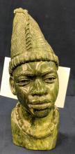 Verdite Stone Carved Bust by Israel Chikumbirike