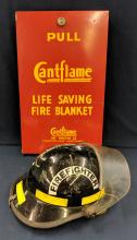 Fire Fighter Helmet and Blanket Box