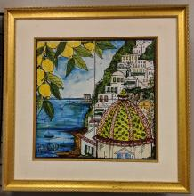 Positano, Italy Framed Painted Tiles