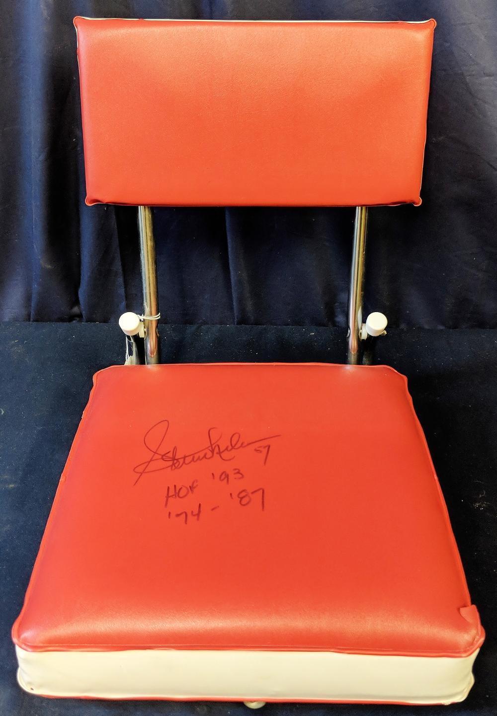 Signed Patriots Stadium Seat