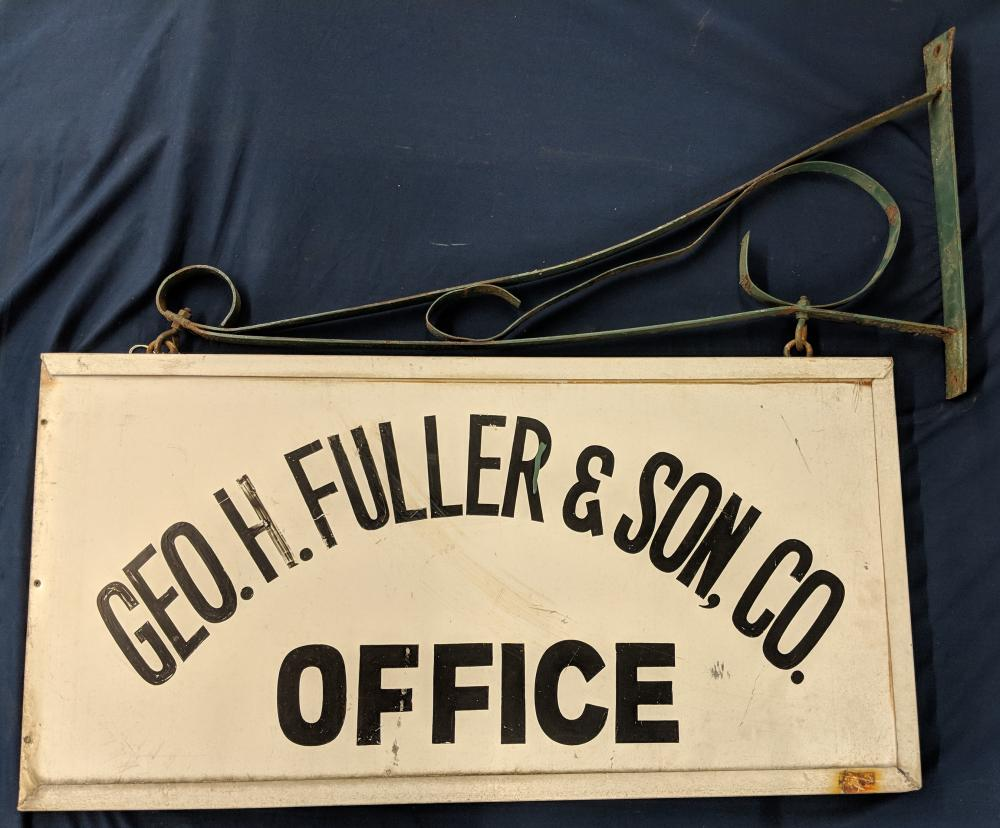 Lot 5: Providence Geo. Fuller & Son Sign