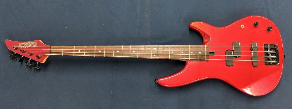 Lot 6: Red Yamaha Bass Guitar