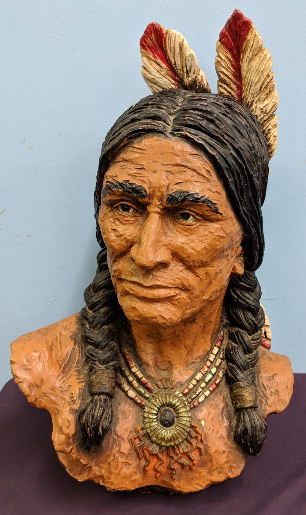 Native American Resin Bust