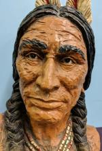 Lot 7: Native American Resin Bust