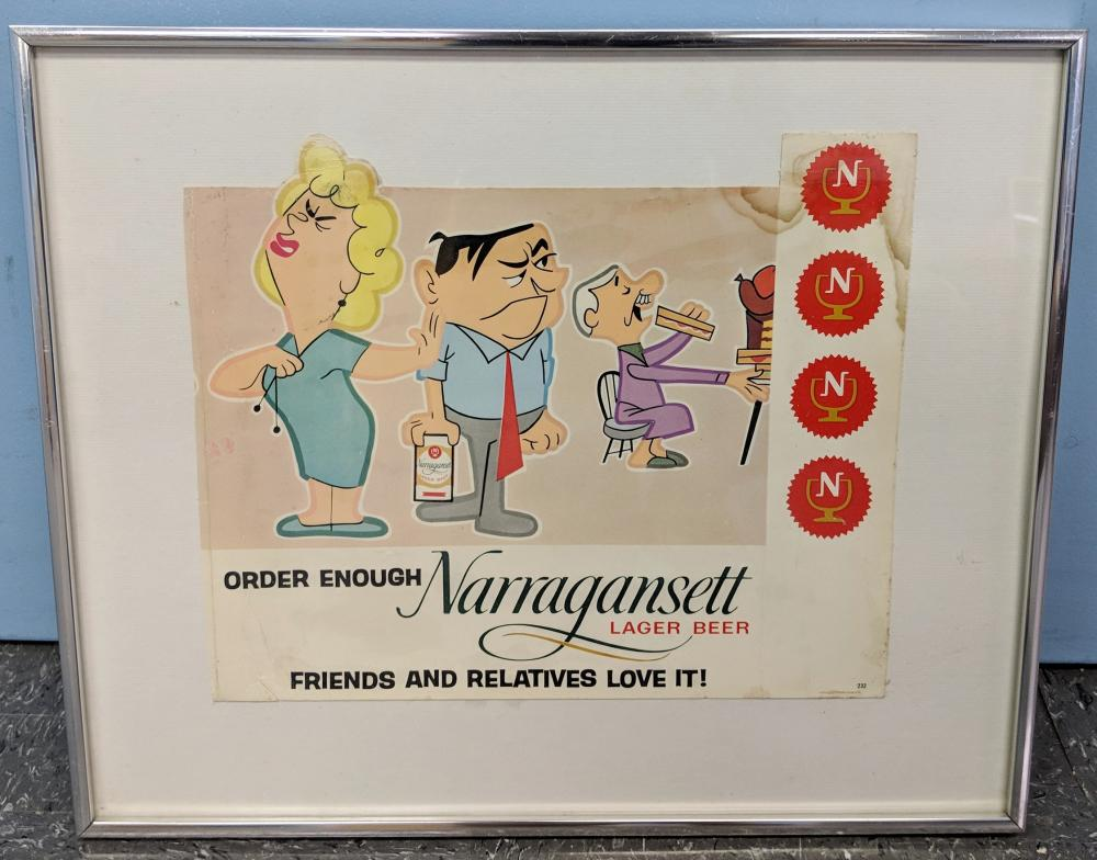 """Order Enough Narragansett"" Beer Ad"
