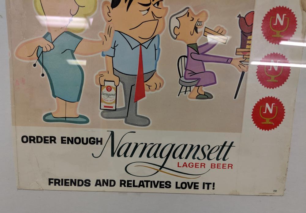 "Lot 8: ""Order Enough Narragansett"" Beer Ad"