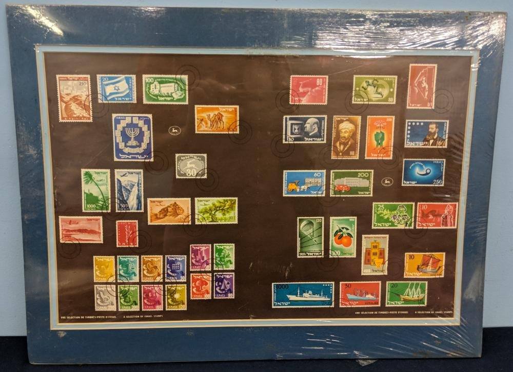 10 Israel Stamp Sets, Matted