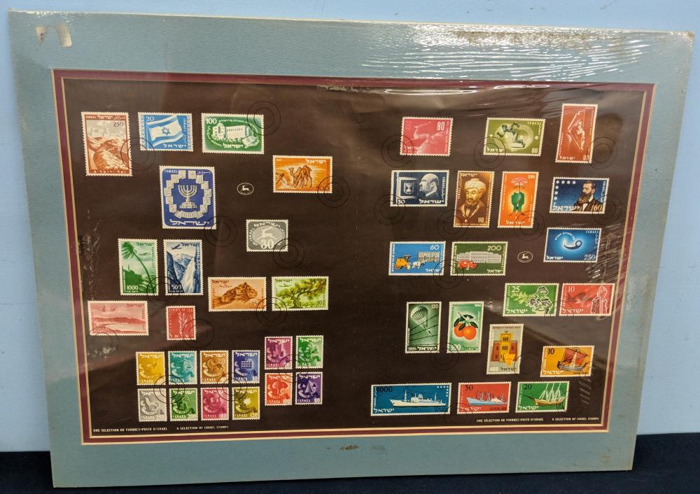 Lot 13: 10 Israel Stamp Sets, Matted