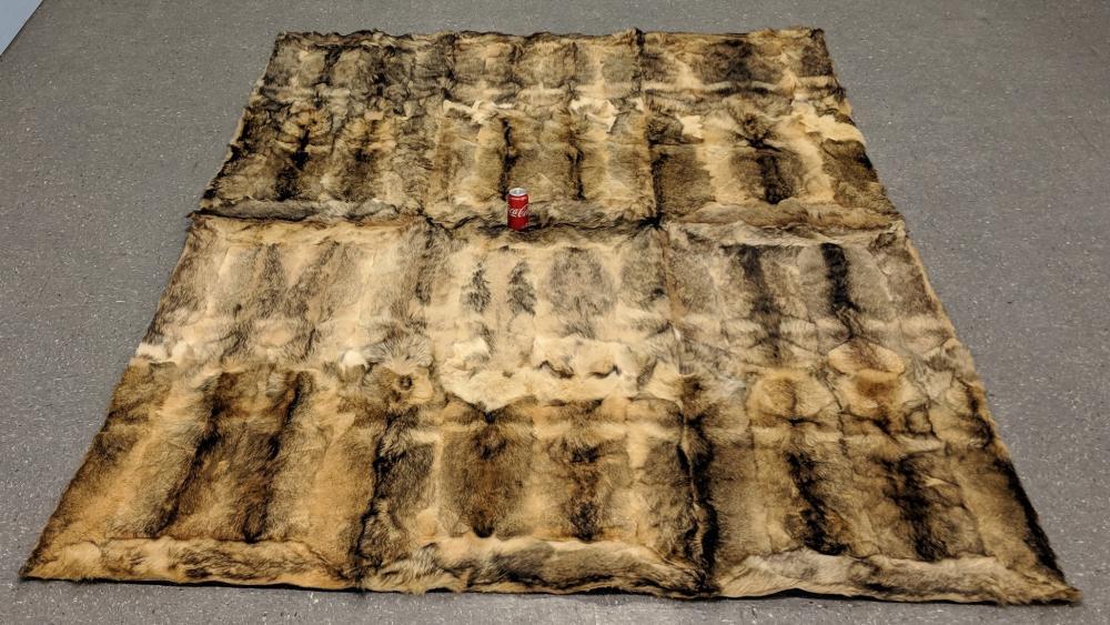 Antique Jackal Fur Rug