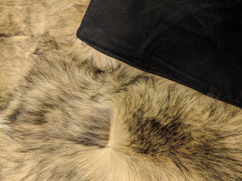 Lot 17: Antique Jackal Fur Rug