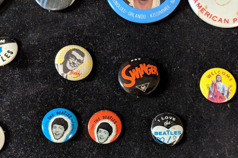 Lot 18: Vintage Beatles & Other Rock Buttons