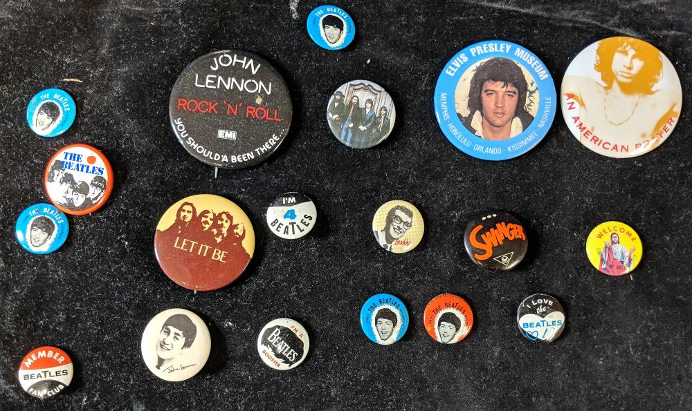 Vintage Beatles & Other Rock Buttons